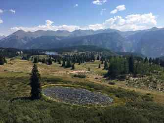 Vista along the Million Dollar Highway near Silverton