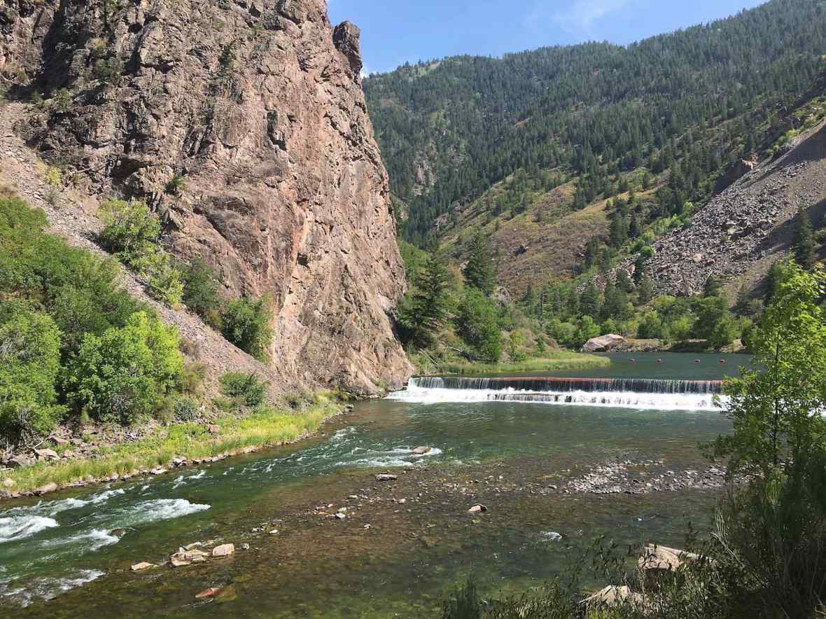 Gunnison River diversion tunnel in Black Canyon of the Gunnison National Park