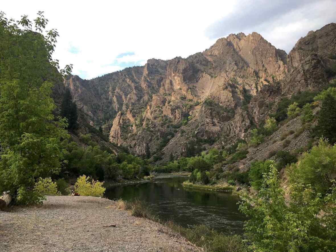 Gunnison River at East Portal Campground
