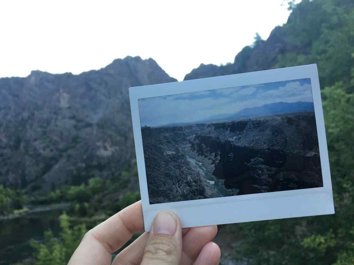 Instax Wide Picture of Black Canyon of the Gunnison National Park