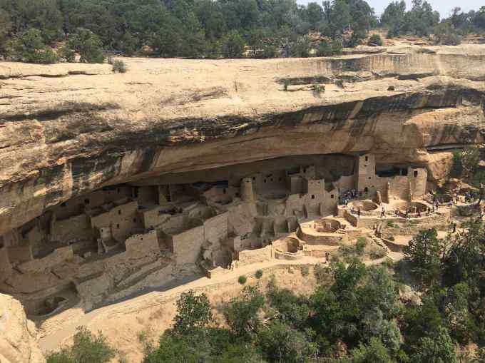 Overlooking Cliff Palace at Mesa Verde National Park