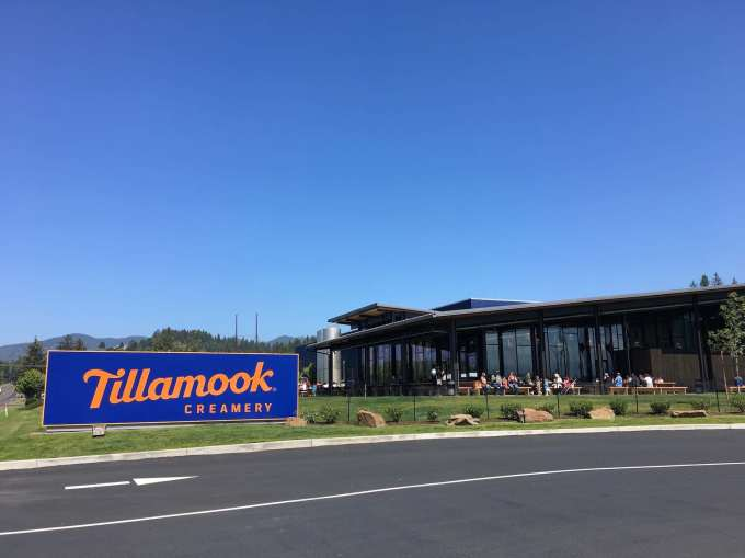 Tillamook Creamery on Oregon Coast Highway, a fun stop for cheese and ice cream