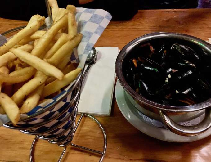 Mussels & Frites at Rogue Brewery's Pub in Newport, Oregon
