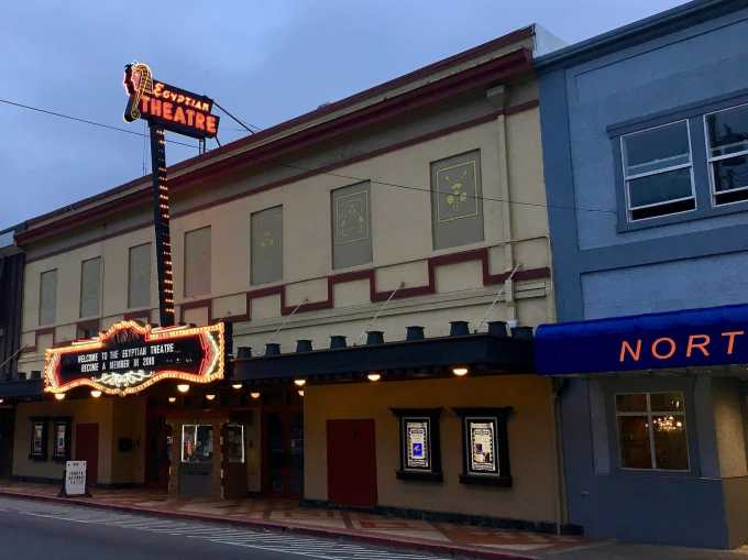 Egyptian Theatre in downtown Coos Bay, Oregon
