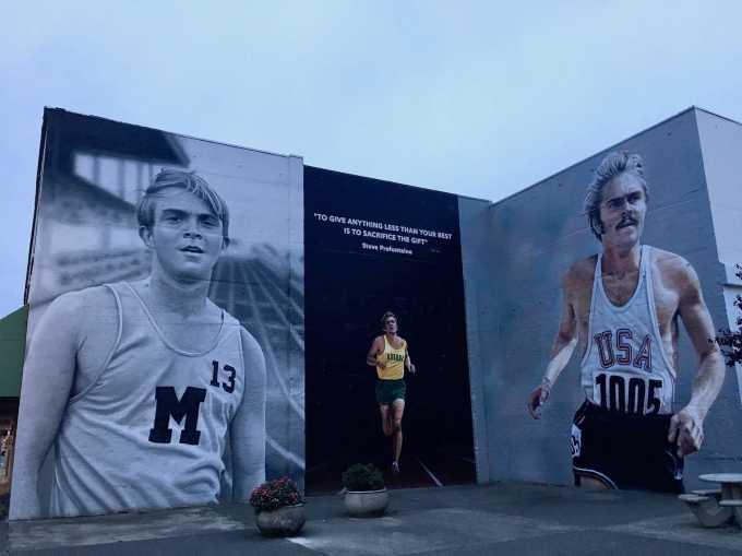 Steve Prefontaine Memorial mural