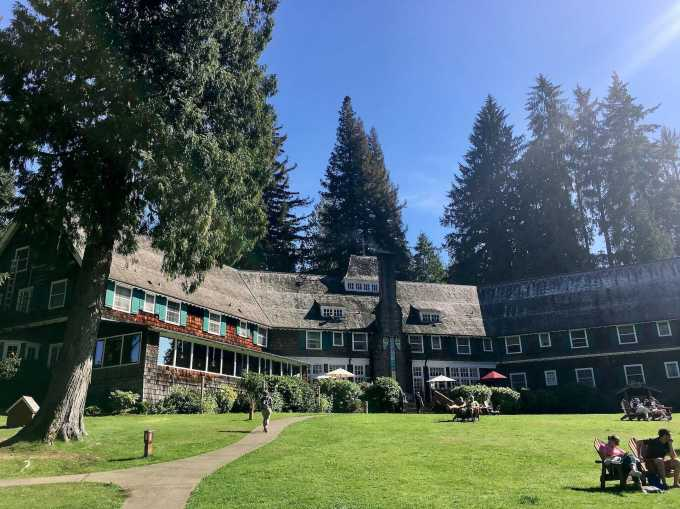 Historic Lake Quinault Lodge in Olympic National Forest Washington