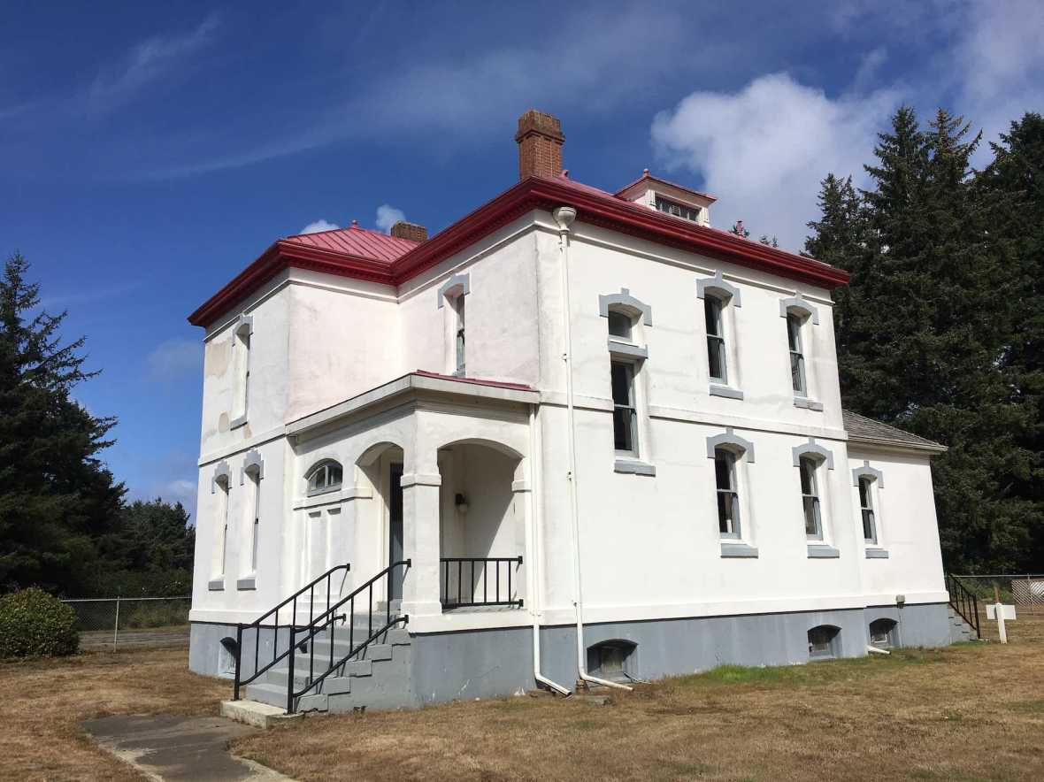 Lightkeeper's house at Cape Disappointment State Park Washington