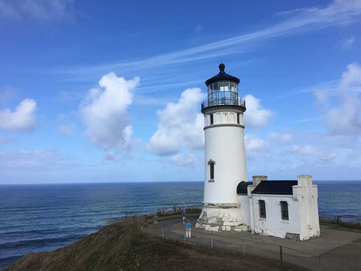 North Light lighthouse in Cape Disappointment State Park Washington Coast