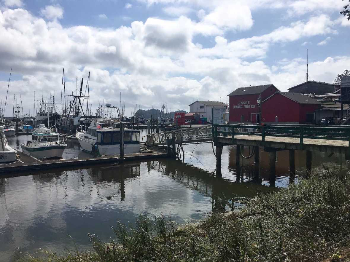 Ilwaco Washington harbor fishing village