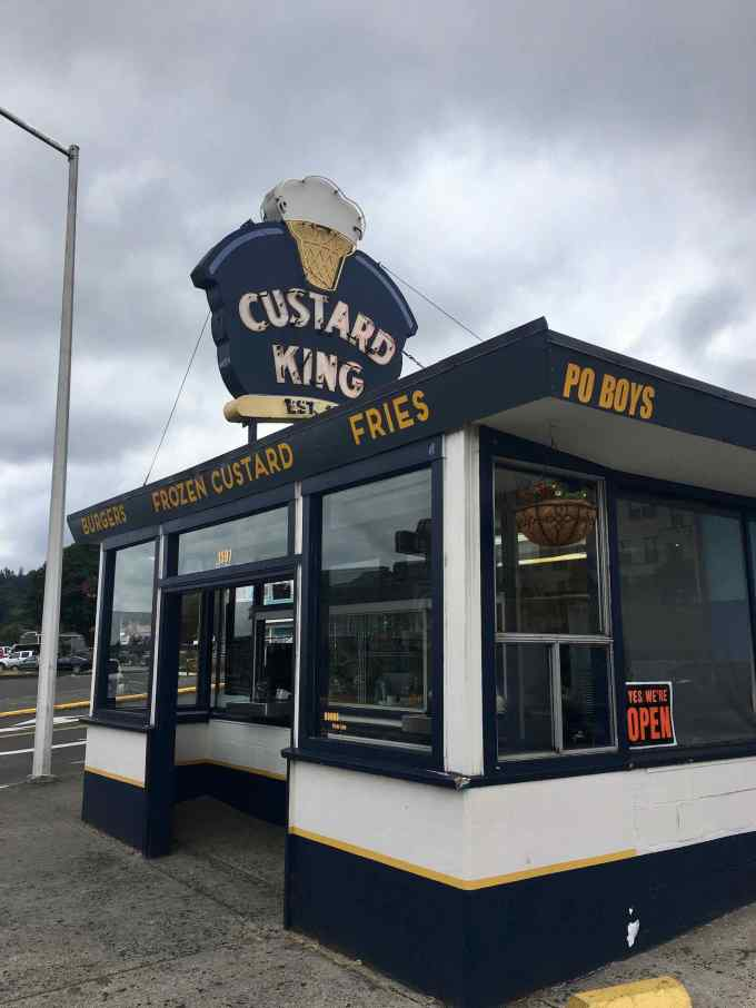 Custard King Dairy Bar Astoria Oregon