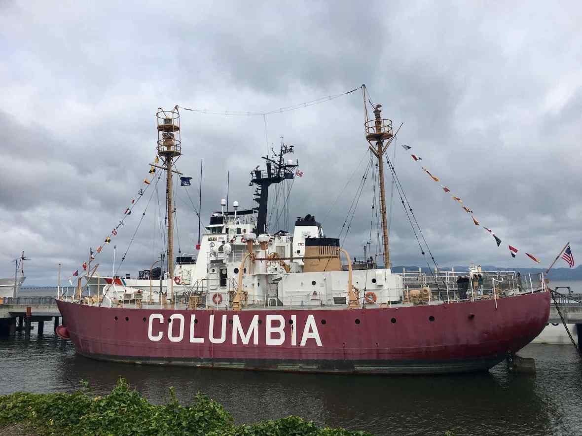 Columbia Boat at the Maritime Museum Astoria Oregon