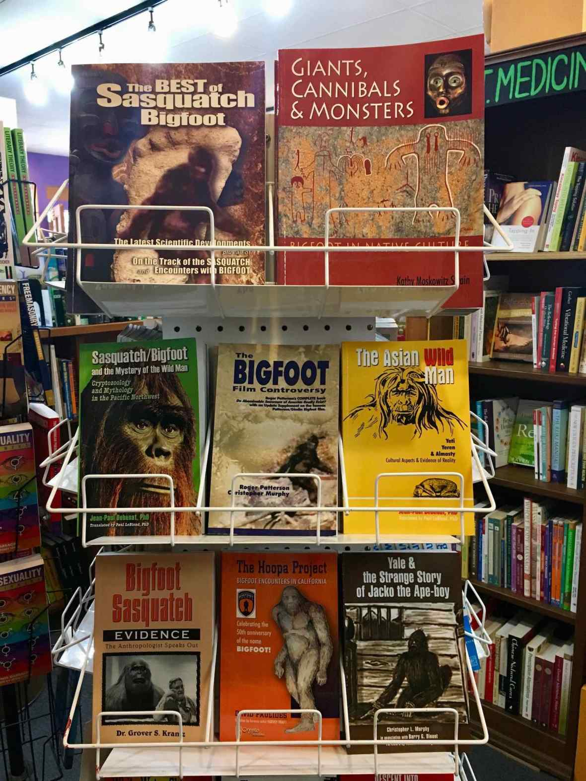 Bigfoot Sasquatch Astoria Oregon bookstore