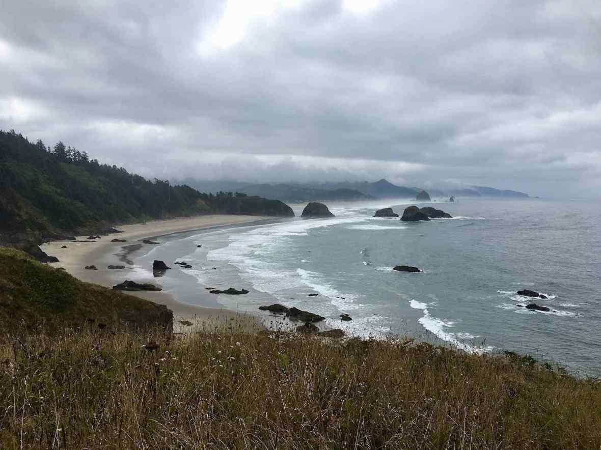 Overlooking Cannon Beach from Ecola State Park Oregon