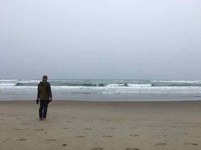 Beach at Nehalem Bay State Park Oregon
