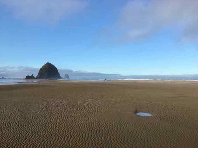 Haystack Rock in Cannon Beach Oregon one of the world's largest sea stacks