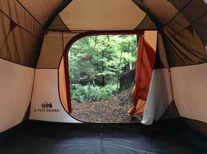 Gear Review REI Co-op Grand Hut 4 Tent Interior