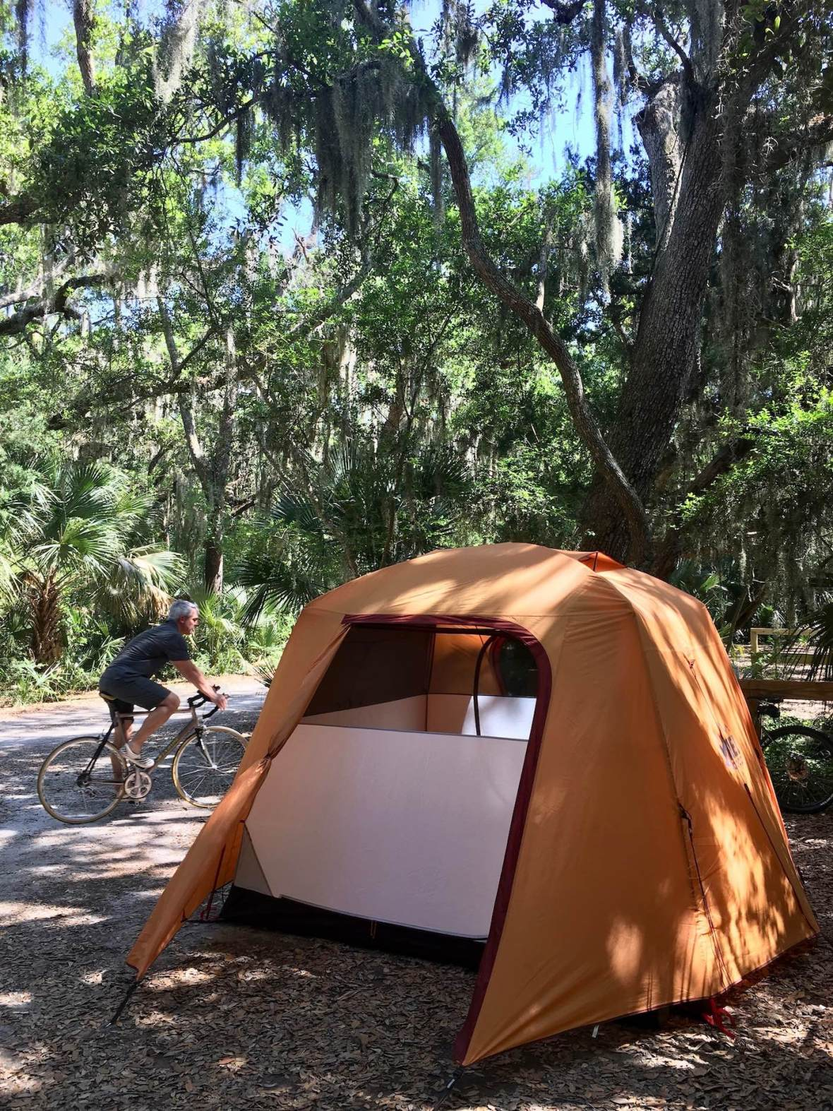 Gear Review REI Co-op Grand Hut 4 Tent in Little Talbot Island State Park Florida