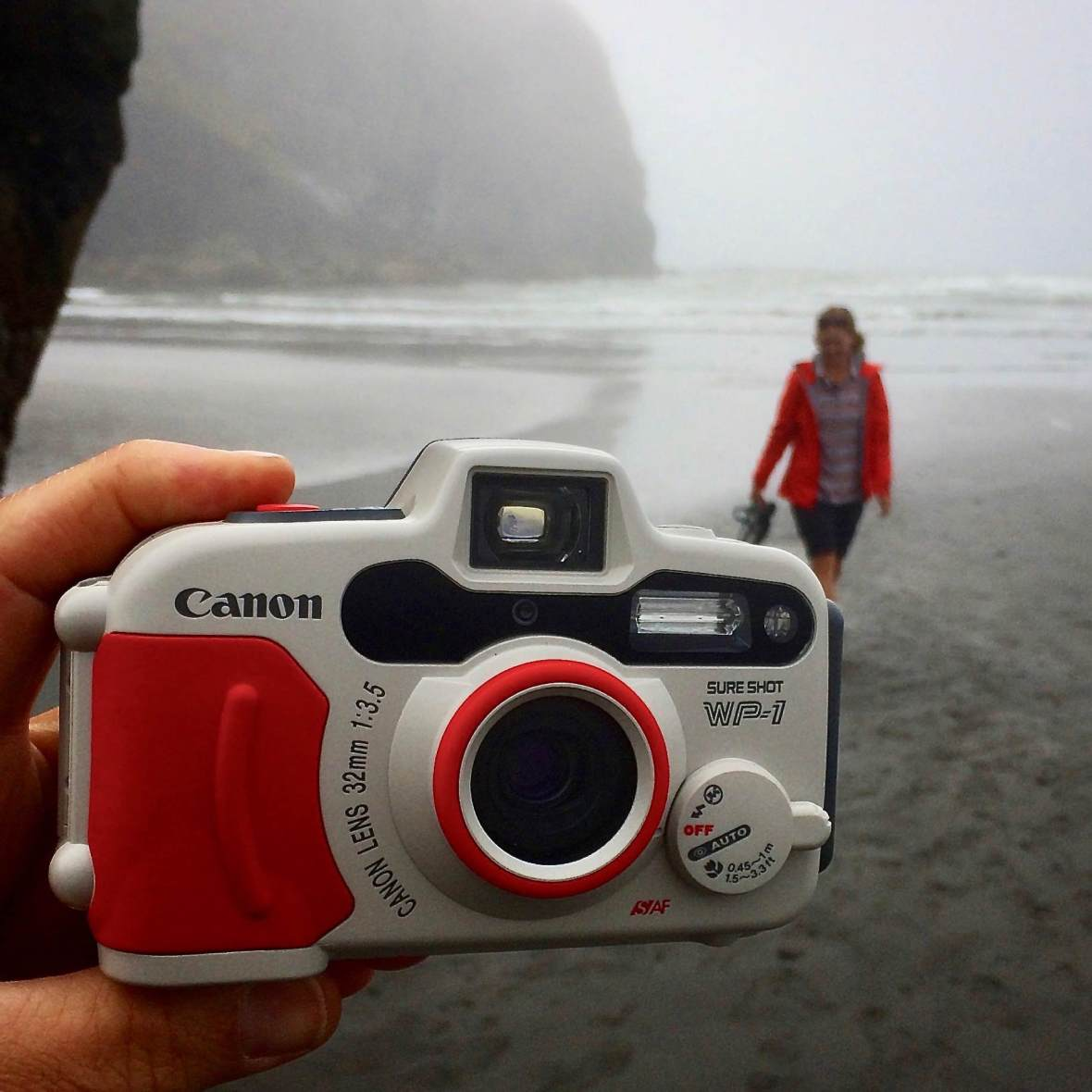 Testing out the weatherproof Canon WP-1 35mm film camera