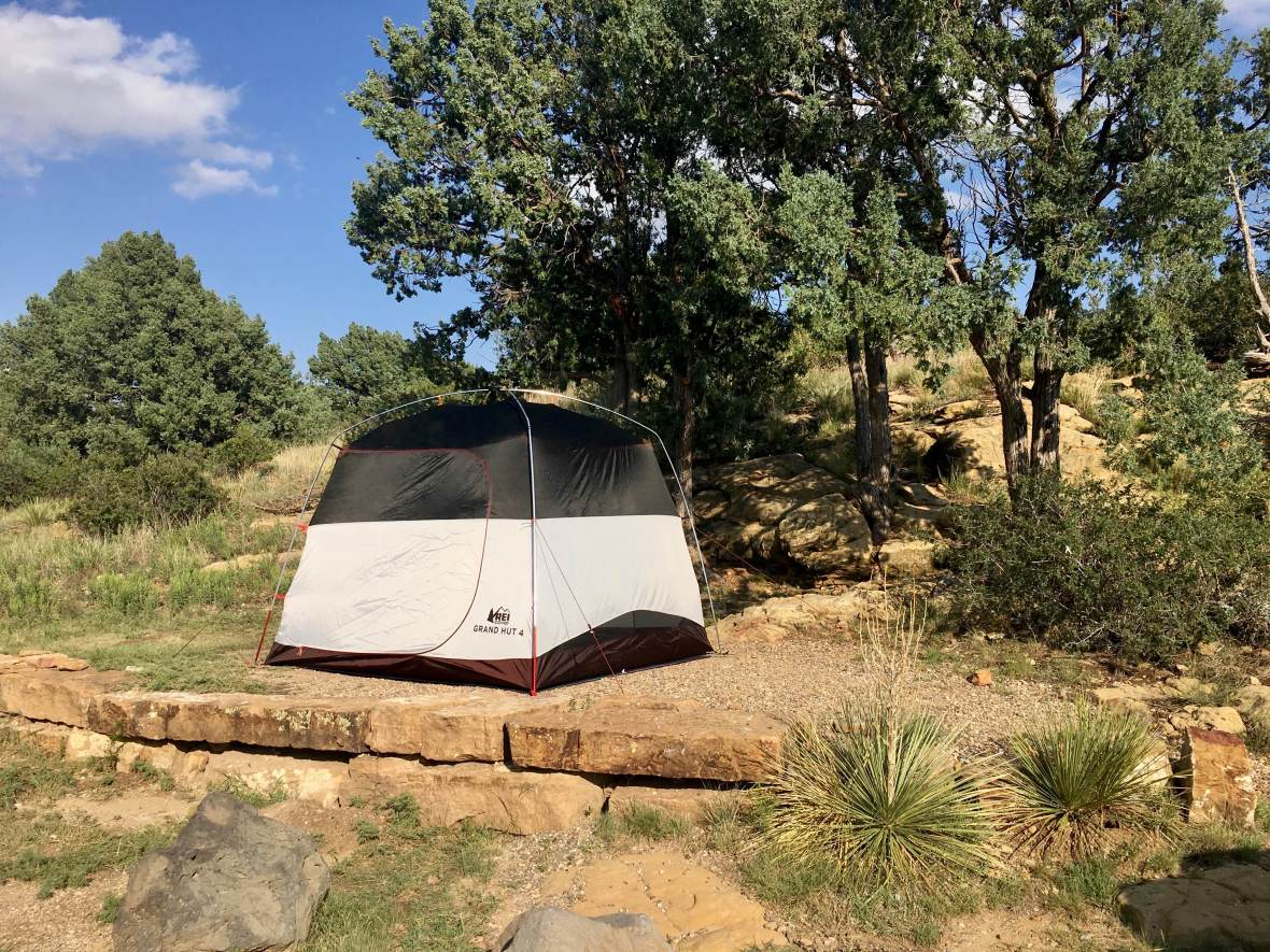 Gear Review REI Co-op Grand Hut 4 Tent in Clayton Lake State Park New Mexico