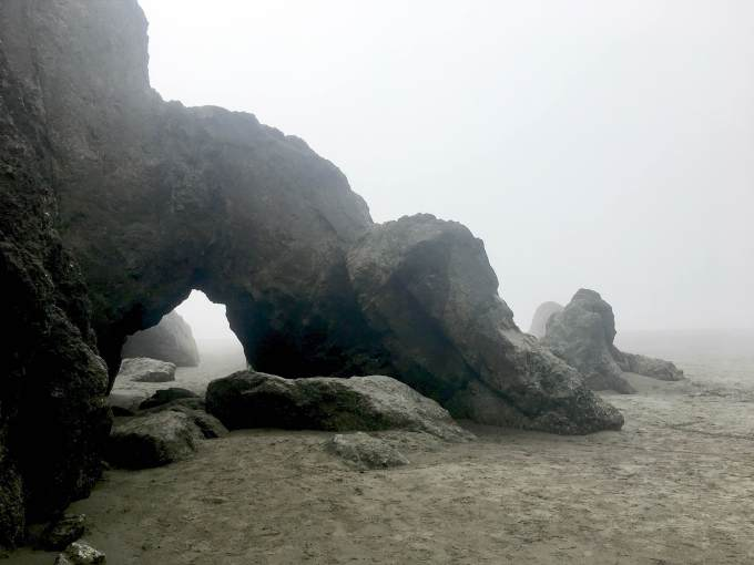 Rock formations at Ruby Beach, Olympic National Park