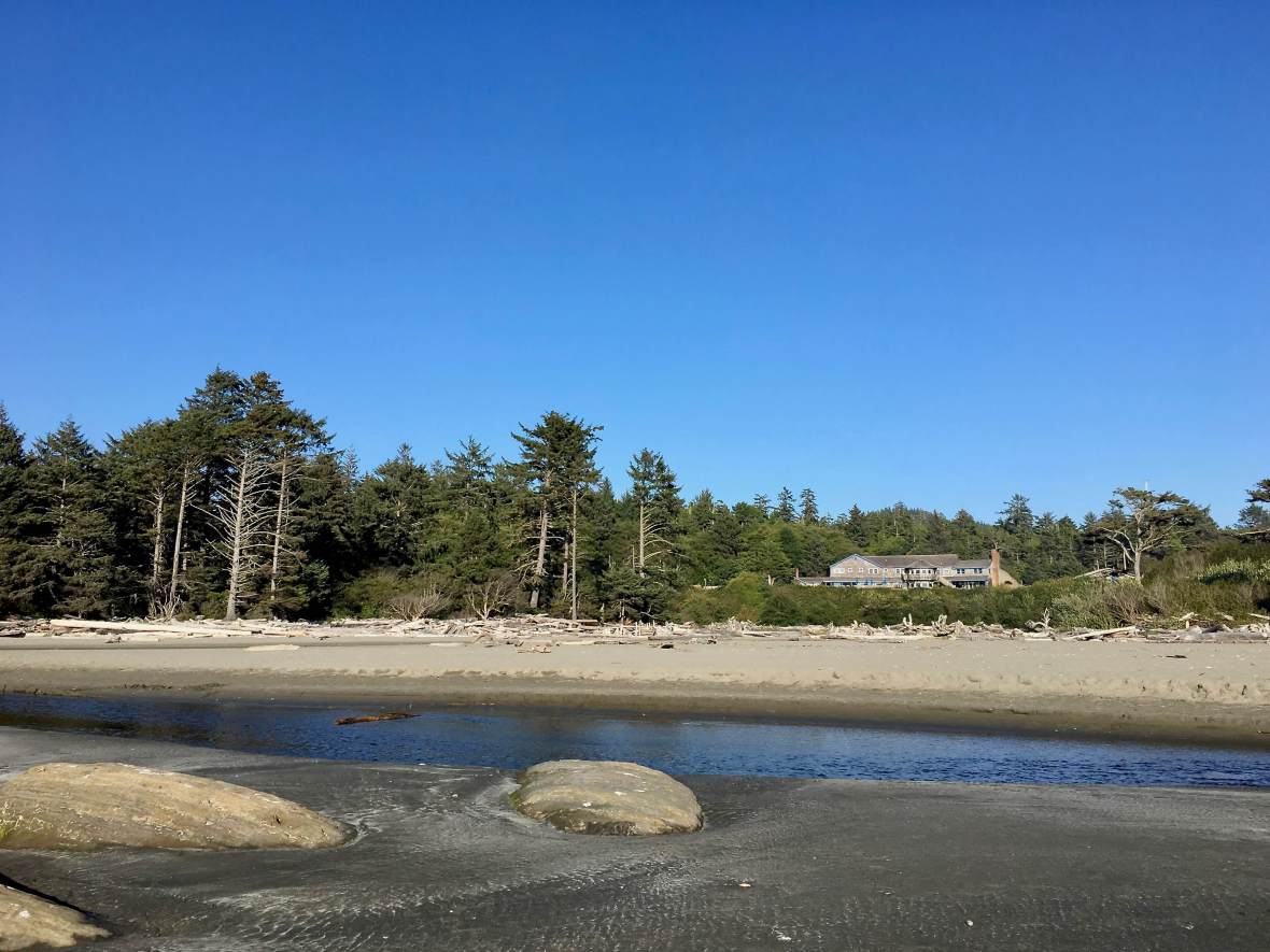 Viewing Kalaloch Lodge from the beach, Olympic National Park