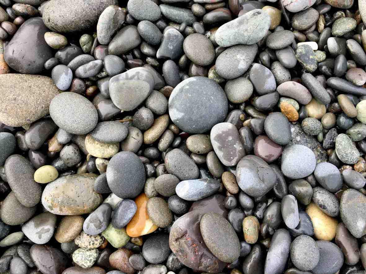 Rialto Beach tumbled pebbles Olympic National Park
