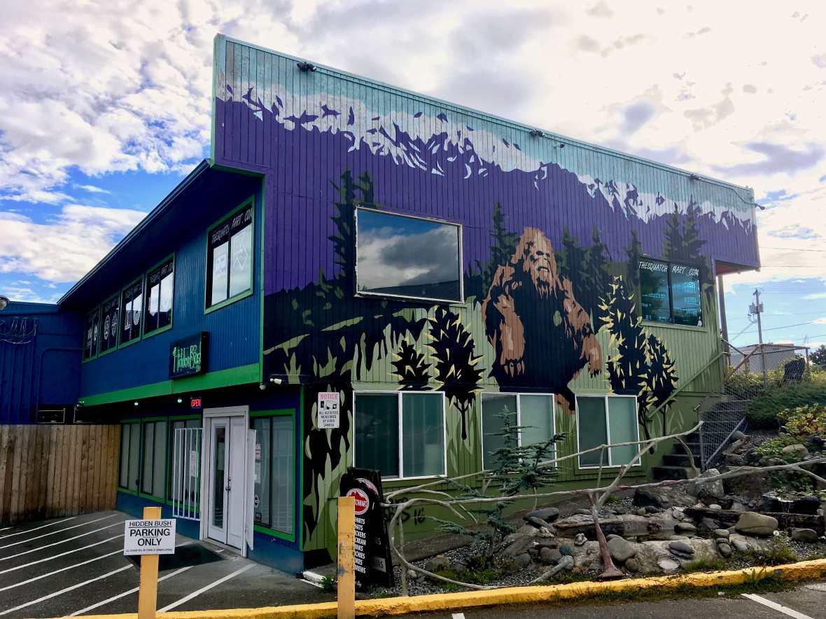 The Hidden Bush & Squatch Merch Bigfoot gift shop in Port Angeles Washington