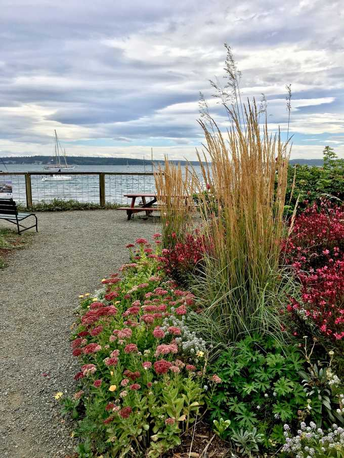 Pocket park in downtown Port Townsend, Washington