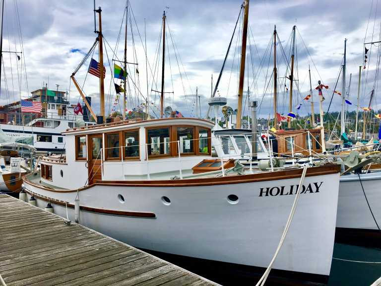 Boats exhibited at Port Townsend's 42nd Wooden Boat Festival