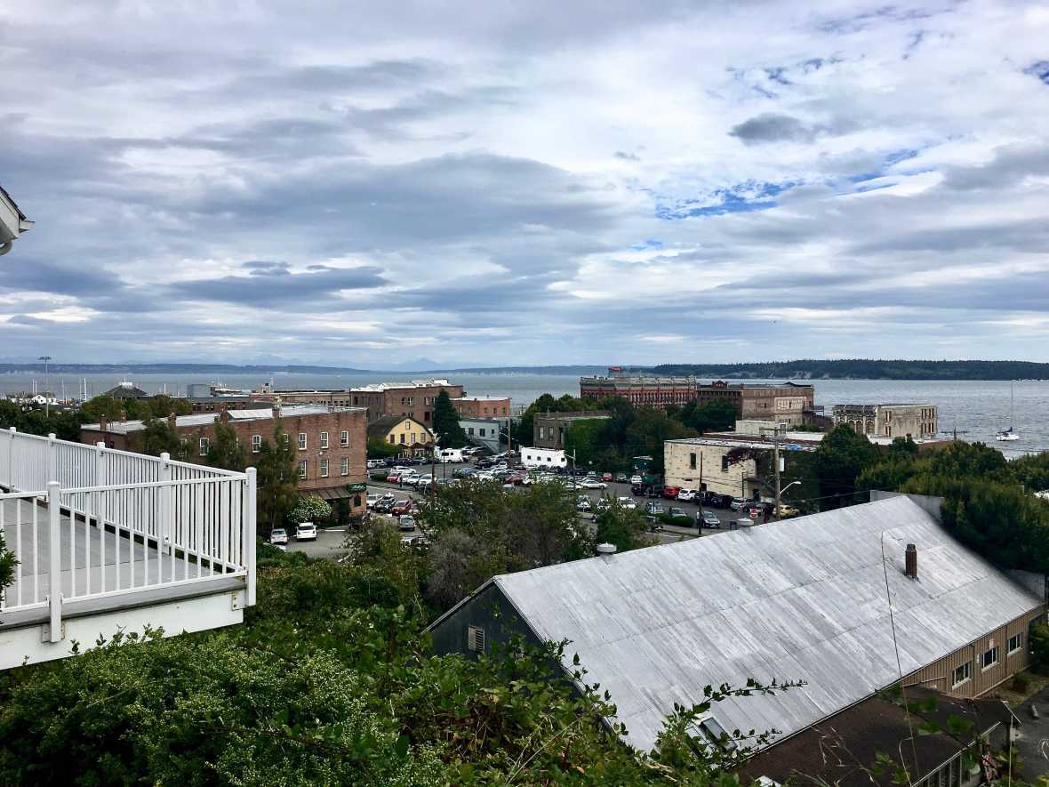 Overlooking downtown Port Townsend, Washington