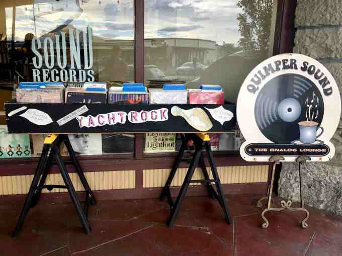 Quimper Sound record store in Port Townsend, Washington