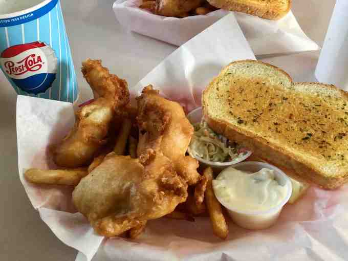 Tasty Fish & Chips at Sea J's Cafe in Port Townsend, Washington