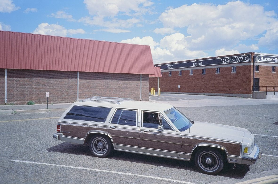 Expired Kodak Elite Chrome 35mm expired film photograph: Sweet vintage Station Wagon in Clovis, New Mexico