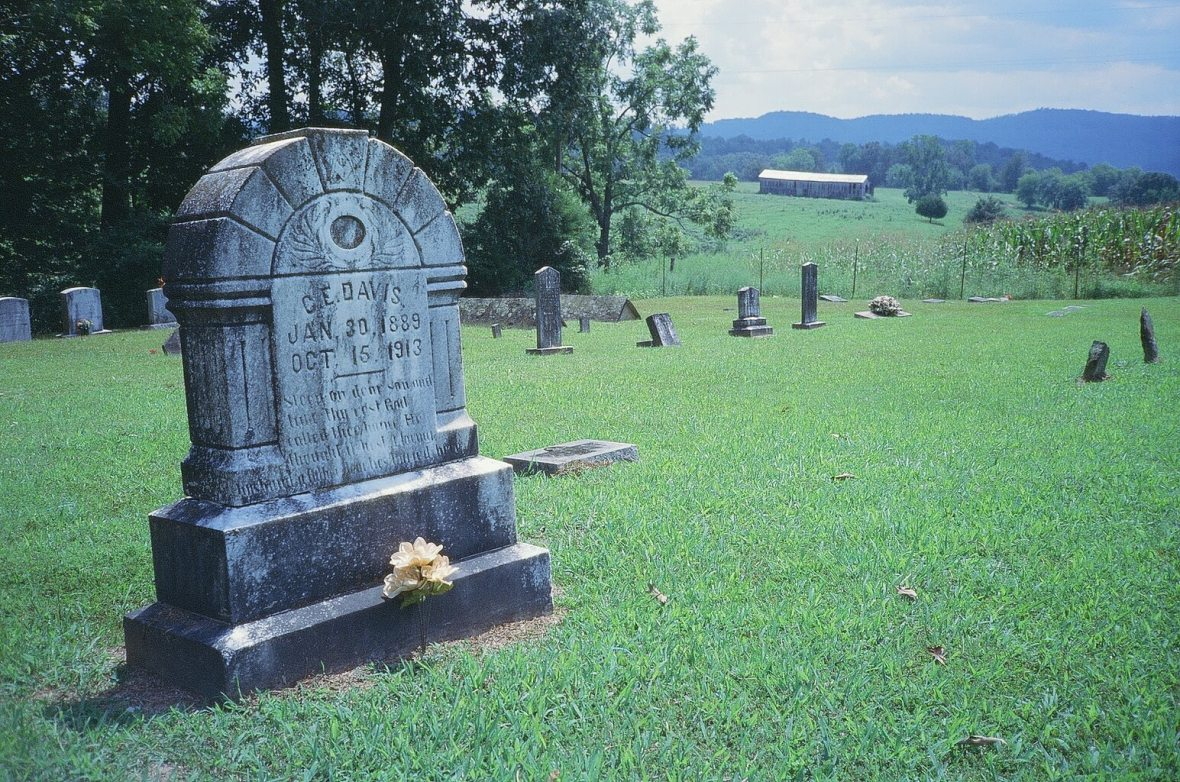 Expired Kodak Elite Chrome 35mm expired film photograph 30 minutes to total Solar Eclipse at Old Union Cemetery White County, Tennessee