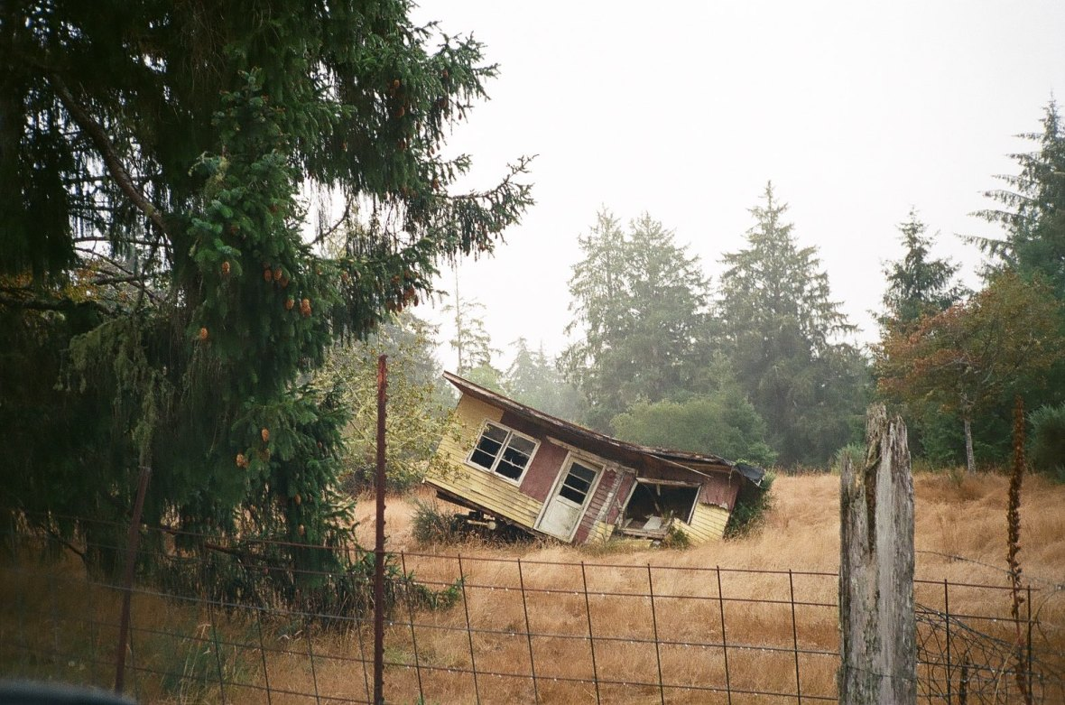 35mm film - House in decay, Oysterville Washington