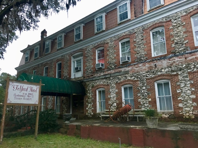 Historic Telford Hotel in White Springs, Florida Closed