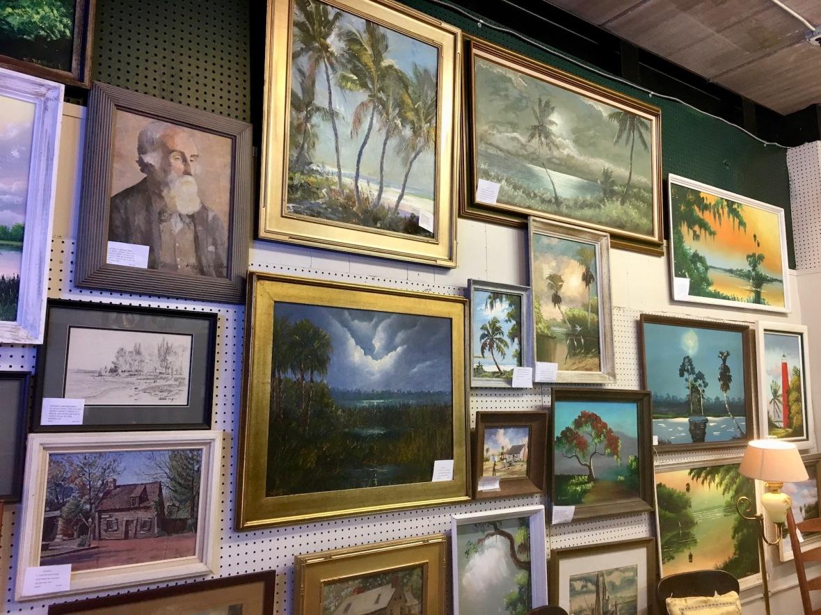 Highwaymen Paintings at Antique Emporium in Reddick, Florida