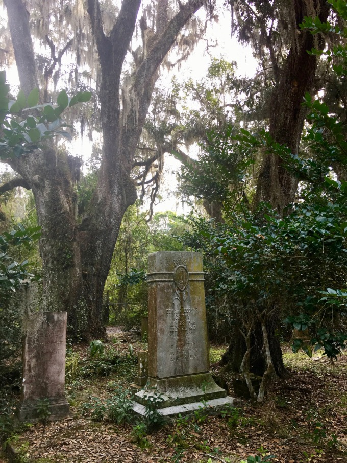 Historic cemetery in Micanopy, Florida