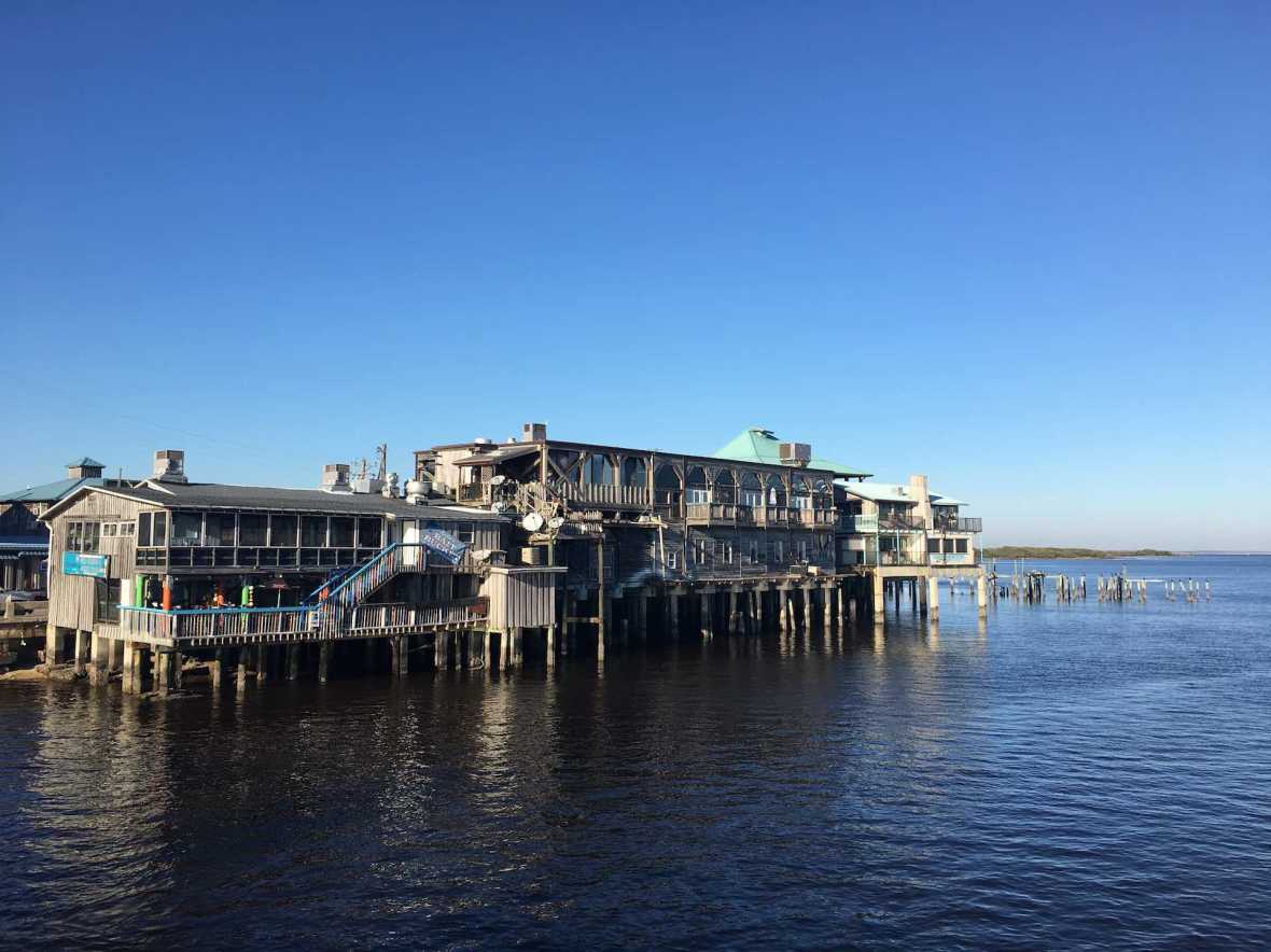 Dock Street, viewed from the Cedar Key city pier