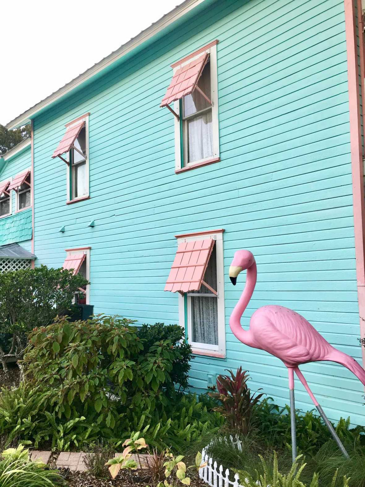 Giant flamingo, Cedar Key Bed & Breakfast
