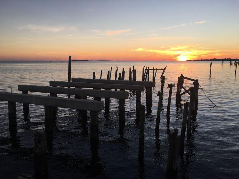 January sunset in Cedar Key, Florida