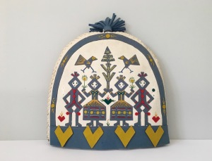 Mid century folk Swedish Scandinavian modern Tea cozy Made in Sweden
