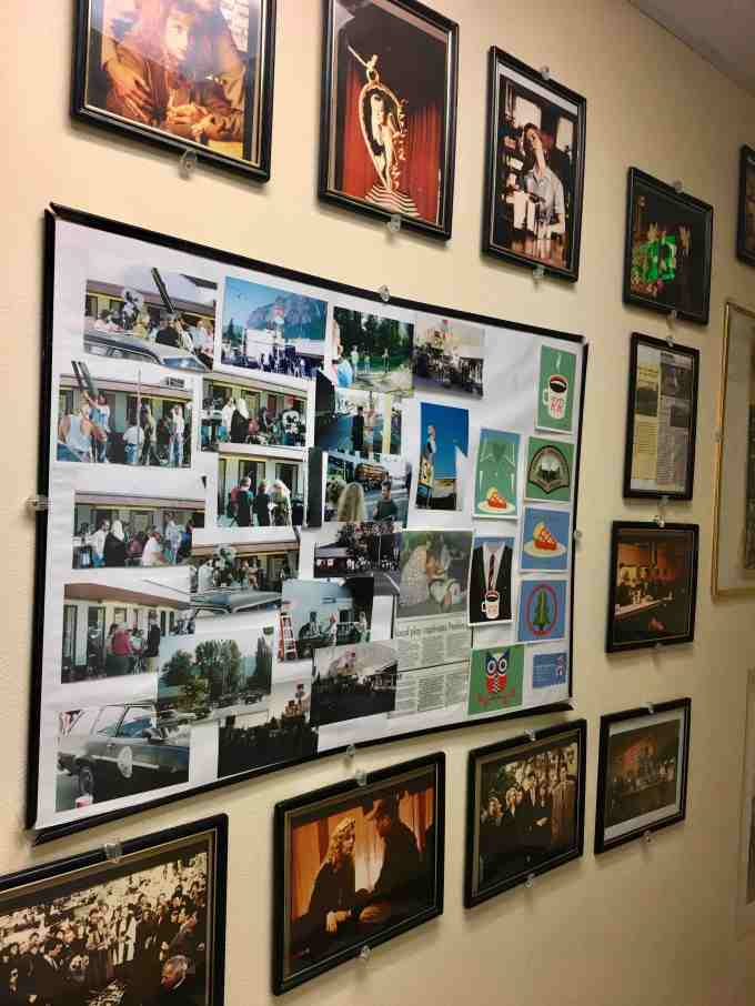 Photo Wall at Twede's Cafe (aka The RR or Double R Diner) North Bend, Washington - Twin Peaks Filming Location