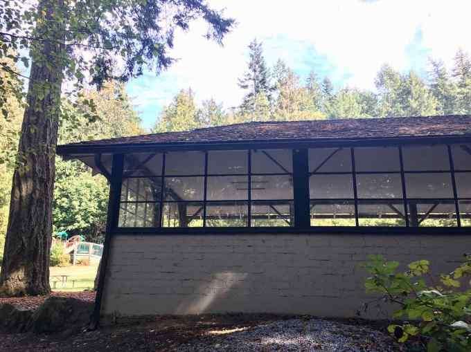 Pavilion at Larrabee State Park in Bellingham, Washington