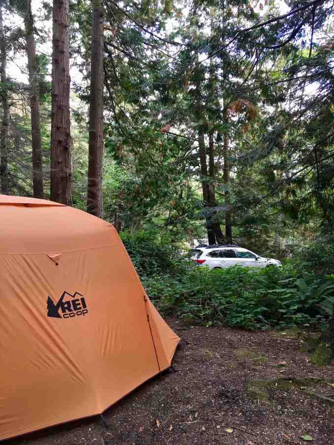 Campground at Larrabee State Park in Bellingham, Washington