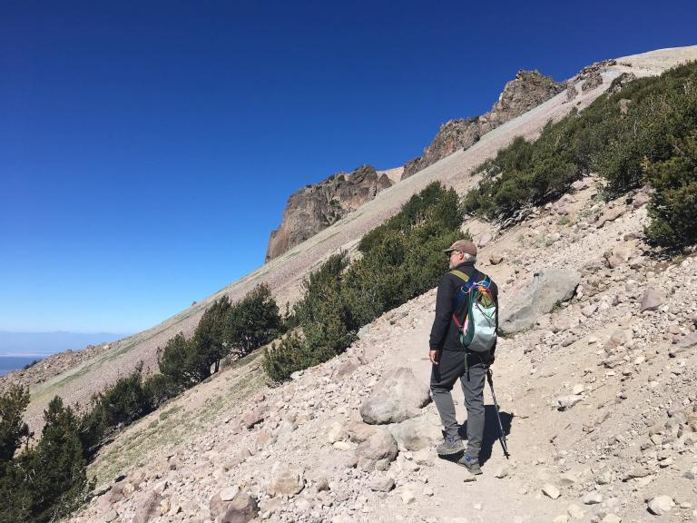 gear review hiking Lassen Peak at Lassen Volcanic National Park with Cotopaxi Luzon 18L daypack backpack