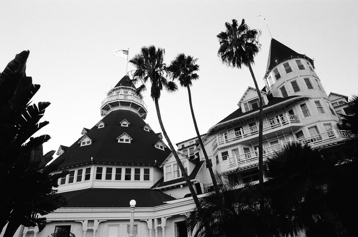 Hotel del Coronado 35mm film photography Kodak Tri-X black and white San Diego California Nikon F2