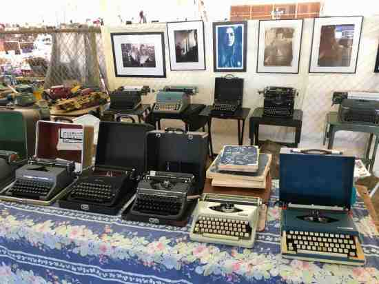 A plethora of nice vintage typewriters & film photography portraits at the Nashville Flea Market