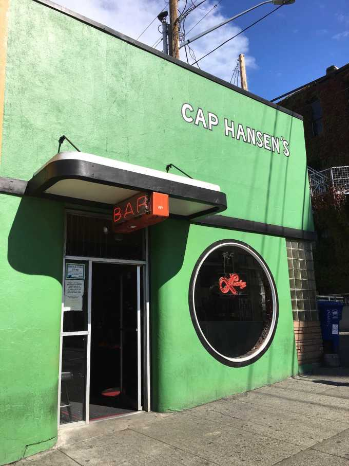 Cap Hansen's Tavern Bar in downtown Bellingham, Washington