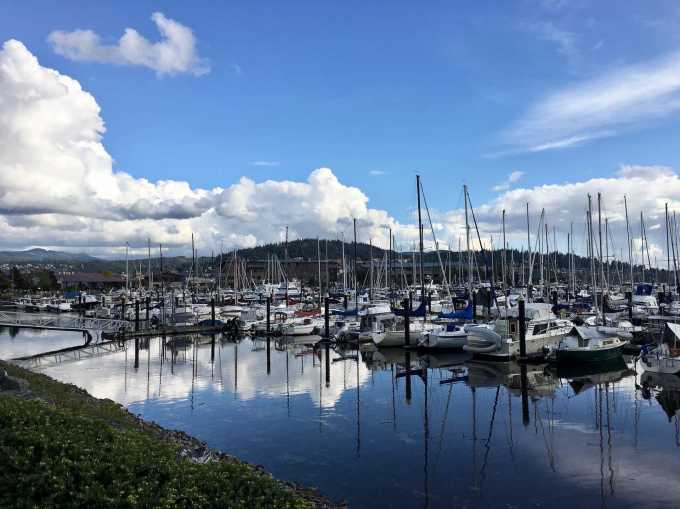 Squalicum Harbor in downtown Bellingham, Washington